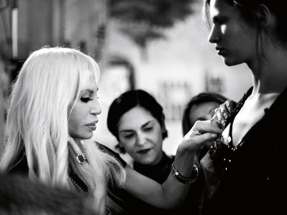 Paris Fashion Presentation with Donatella Versace